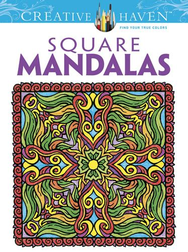square mandalas creative haven printable design coloring pages for adults and teens