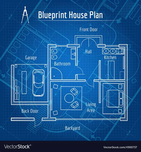 blueprints for house abstract architecture background blueprint house plan with