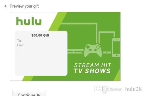 Hulu 1 Year Gift Card - 2017 hulu plus 6months only usa gift subscription gift card send code only wholesale
