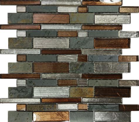 kitchen mosaic tile backsplash sle metallic brown glass mosaic tile