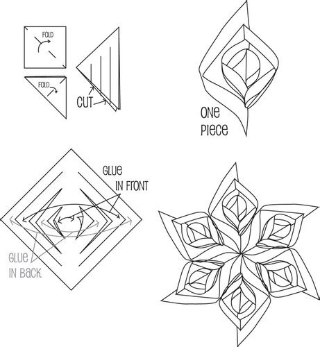 3d paper snowflakes printable instructions 3d paper snowflake patterns tools square paper you can