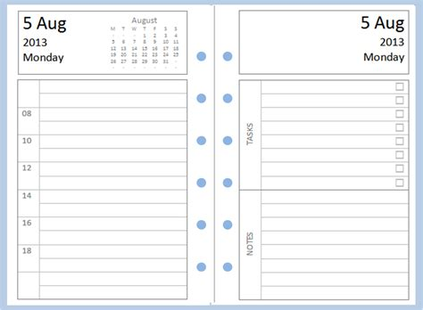 personal journal template philofaxy diary inserts