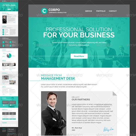 corporate email template corporate e newsletter template by kalanidhithemes