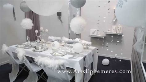 Decoration De Table De Noel Argent