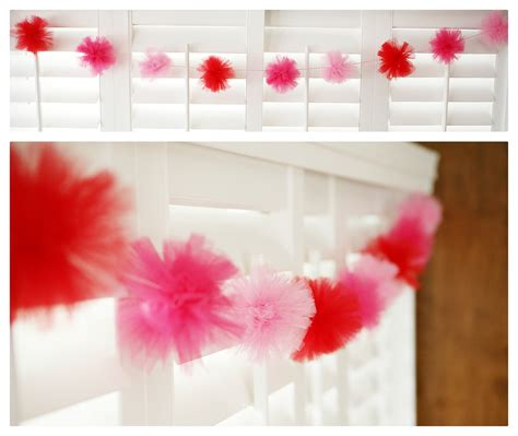 tulle craft projects make a tulle pom pom garland 187 dollar store crafts