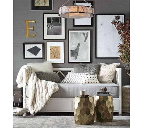 Pottery Barn Dining Room Ideas mongolian faux fur pillow cover frost gray pottery barn