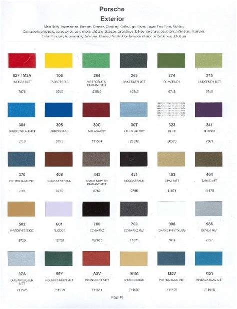 1979 porsche paint color sle chips card oem colors ebay