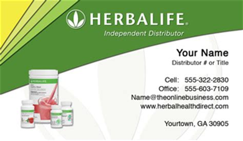 Herbalife Business Cards Free Shipping And Design No Additional Fees Apply Herbalife Flyer Template
