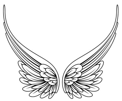 black and white angel wings tattoo designs wings clipart panda free clipart images