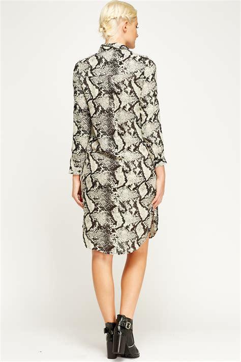 shirt dress animal print animal print shirt dress just 163 5