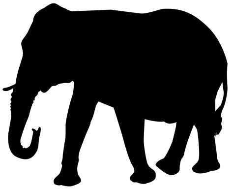 Silhouette Clip Free by Elephant Silhouettes Images Clipart Best
