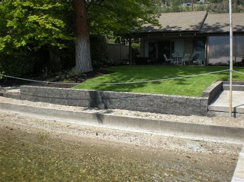modern retaining wall acid stain your concrete block retaining wall by mode