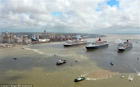 the queen s boat cunard s queen victoria and queen elizabeth ships join