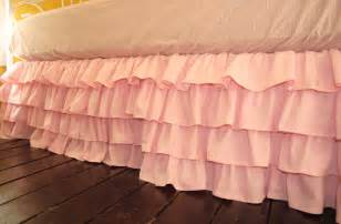 Pink Crib Bed Skirt Pink Ruffled Bed Skirt By Paulaanderika On Etsy