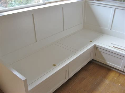 Corner Bench Seating With Storage Furniture White Wooden Corner Storage Bench On Brown Laminated Wooden Floor With White