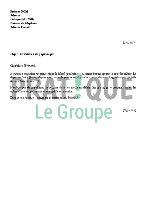 Exemple De Lettre D Invitation Pdf Lettre D Invitation 224 Un Pique Nique Pratique Fr
