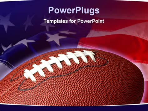 football powerpoint template football with the american flag in he background