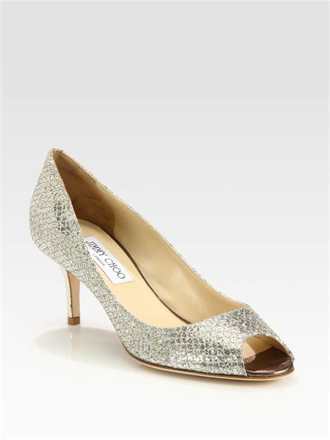 14 Jimmy Choo Shoes by Jimmy Choo Glitter Pumps In Gold Chagne Lyst
