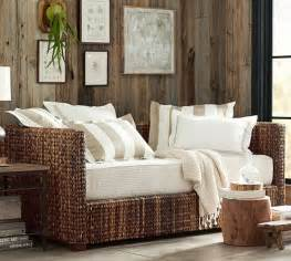 Balinese Daybed Pottery Barn Seagrass Daybed With Trundle Pottery Barn