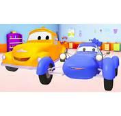 Carreras Azul En Auto City Autos Y Camiones Dibujos Animados Para
