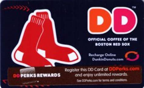 Boston Red Sox Gift Card - gift card the boston red sox dunkin donuts united states of america association