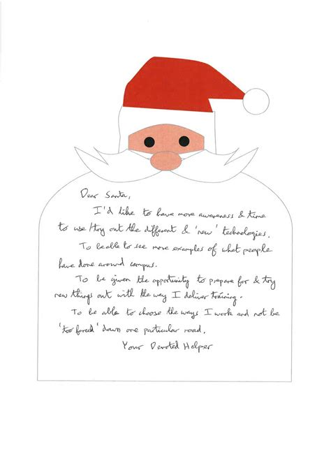 letters santa time opportunity experiment