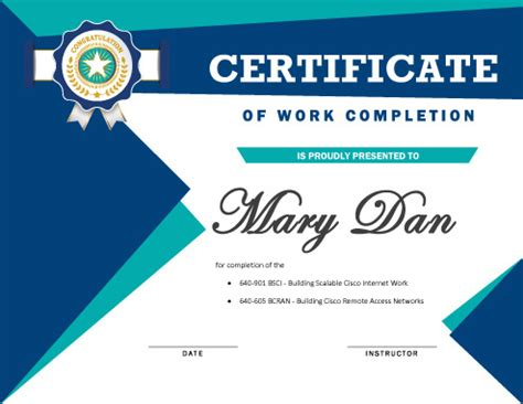 7 certificates of completion templates free download