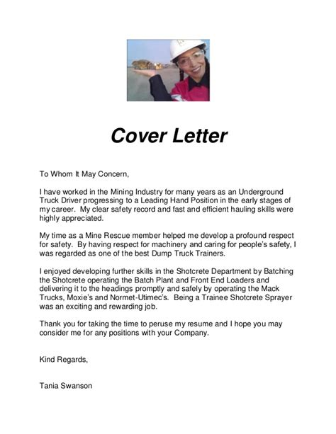Cover Letter For Mining Successful Resume