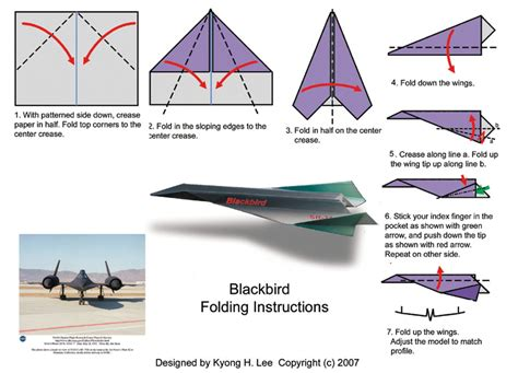 Folding Paper Airplane - blackbird folding