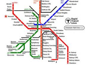 Map Of Boston T by Boston T Map Free Printable Maps