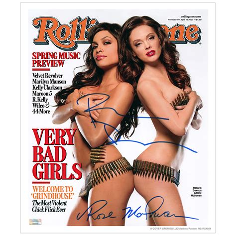 Rosario Dawson And Mcgowan Pose by Lot Detail Rosario Dawson And Mcgowan Autographed