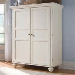 White Armoire American Drew Camden White Home Office Cabinet Computer