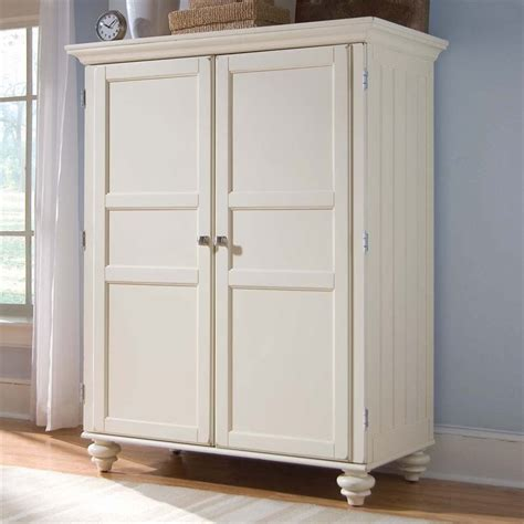 White Desk Armoire by American Drew Camden White Home Office Cabinet Computer