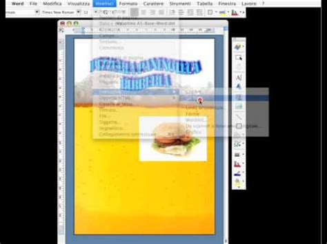 tutorial come creare un volantino in word youtube