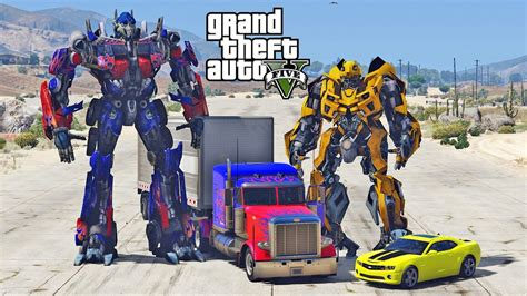 mod gta 5 transformers optimus prime vs bumblebee gta 5 transformers mod