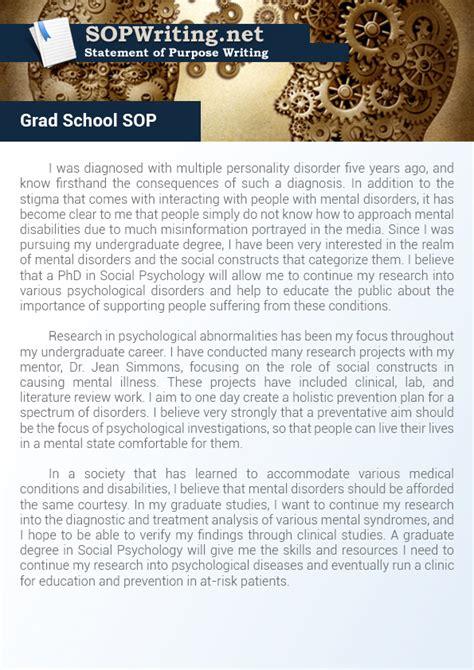 Mba Vs Grad School by Sles Of Sop For Graduate School Statement Of Purpose