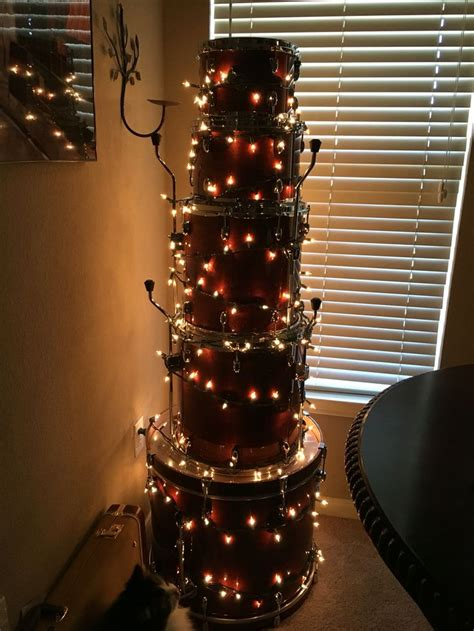 drum christmas tree wife of a musician pinterest