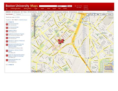 boston college map housing resources 187 bumc