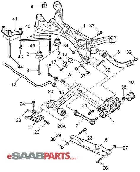 saab 93 parts diagram saab 9 3 rear suspension diagram wiring diagram schemes