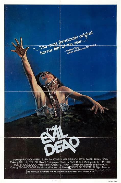 film evil dead 1981 the geeky nerfherder movie poster art the evil dead trilogy