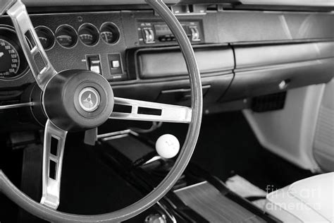 Black Car Interior by Black And White Antique Car Interior Photograph By