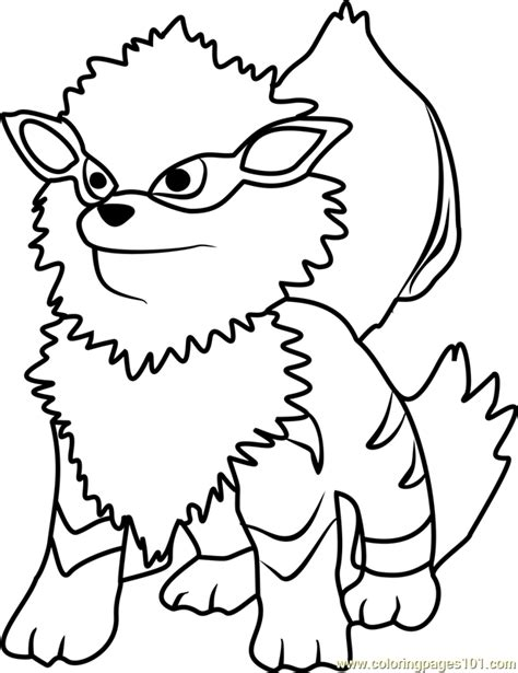 pokemon coloring pages arcanine arcanine pokemon go coloring page free pok 233 mon go