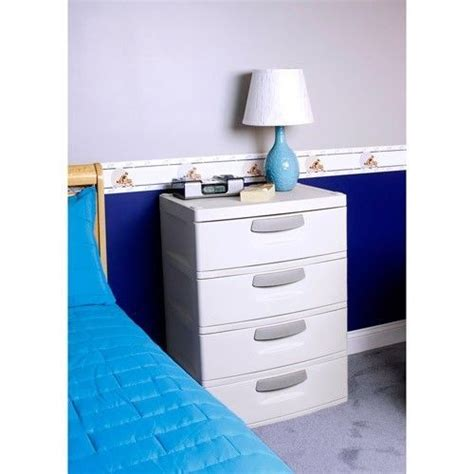 Plastic Four Drawer Storage Cabinet by Click Picture To Enlarge