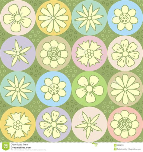 floral garden repeat pattern free flower power repeat pattern seamless background royalty