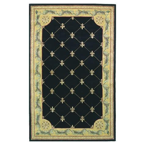 fleur rug kas rugs antique fleur de lis black 8 ft 6 in x 11 ft 6 in area rug jew030786x116 the home