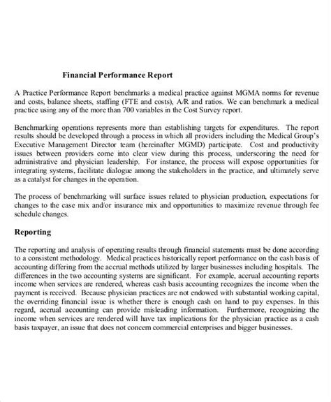 performance appraisal report sle format 28 images