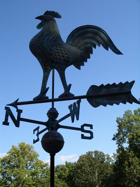 Rooster Weather Vanes Large Rooster Weathervane Copper Functional Weather Vane
