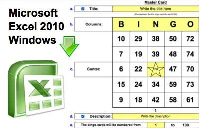 bingo card template excel create your own bingo cards with pictures for free best