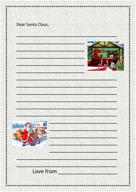 letter to santa template tes letter to santa writing frame by kmed2020 teaching