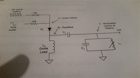 diode modulator in this litude modulation circuit what is the purpose of the diode load l2 electrical